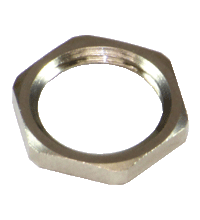 LOCKNUT PG9 NICKEL BRASS